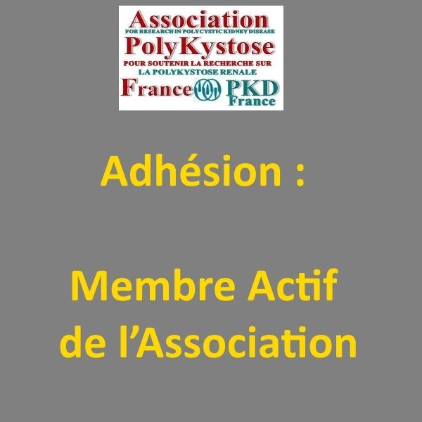 Adhésion : Membre Actif de l'Association